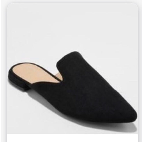 Pointed Toe Slide Loafers